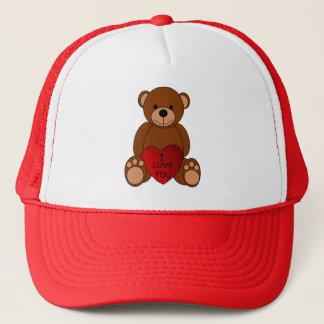 Boné Eu te amo chapéu do camionista do urso