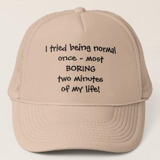 Boné Eu tentei ser chapéu normal - citações engraçadas