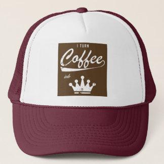 Boné Eu transformo o café em KOMs