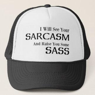 Boné Eu verei seu sarcasmo e aumentá-lo-ei algum Sass