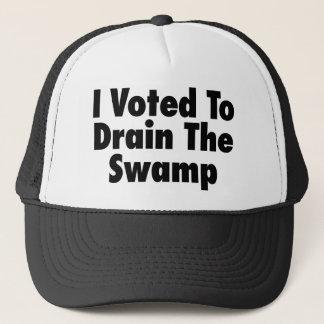 Boné Eu votei para drenar o pântano