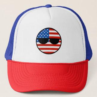 Boné EUA Geeky de tensão engraçados Countryball
