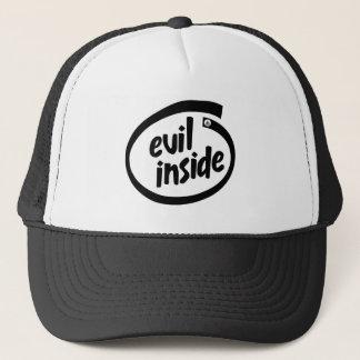 Boné Evil Inside Hail Satanás - 666 - Cap Truckercap -