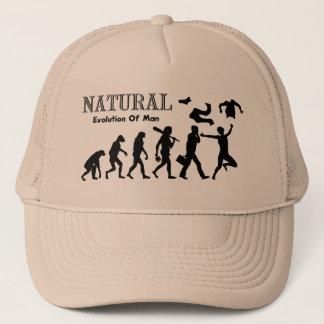Boné Evolução do homem liberado (homem do naturista)