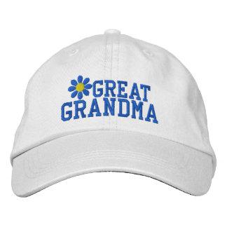 Boné Excelente - chapéu bordado da avó flor azul