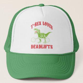 Boné Exercício - T-Rex ama Deadlifts - Bodybuilding