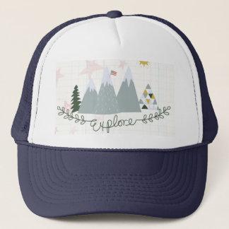 Boné Explore o chapéu patriótico do camionista de