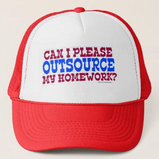 Boné Externalize meus trabalhos de casa