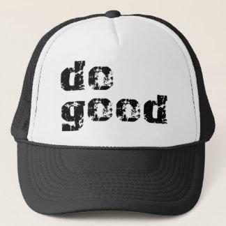 Boné faça a boa engrenagem simples da mensagem
