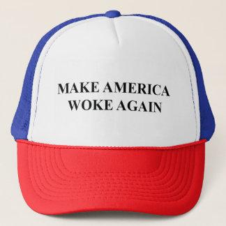 Boné Faça América acordou outra vez o chapéu do