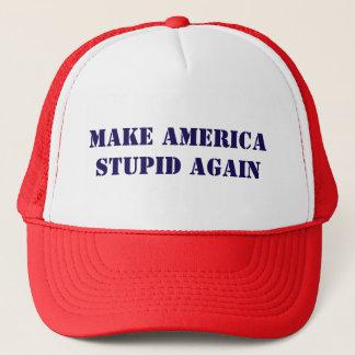 Boné Faça América estúpida outra vez