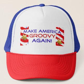 Boné Faça América Groovy outra vez! Chapéu do