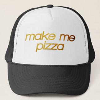 Boné Faça-me a pizza! Eu estou com fome! Foodie na moda