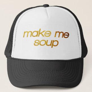 Boné Faça-me a sopa! Eu estou com fome! Foodie na moda
