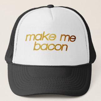 Boné Faça-me o bacon! Eu estou com fome! Foodie na moda