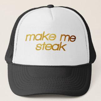 Boné Faça-me o bife! Eu estou com fome! Foodie na moda