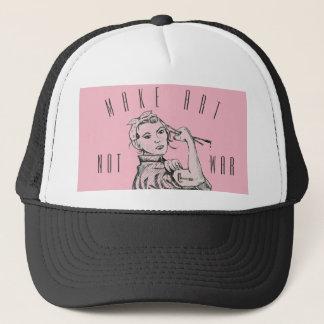 Boné Faça o chapéu da guerra da arte não