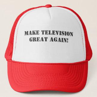 Boné Faça o excelente da televisão outra vez!