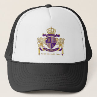 Boné Faça seu próprio emblema da coroa do monograma da