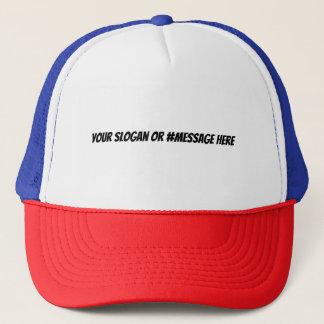 Boné Faça seu próprio slogan ou chapéu de Hashtag