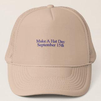 Boné Faça um chapéu do dia do chapéu