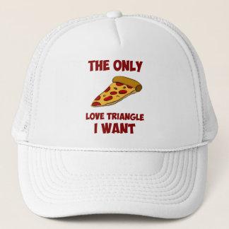 Boné Fatia da pizza - o único triângulo amoroso que eu