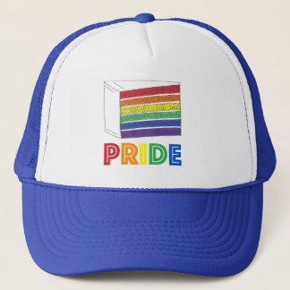 Boné Fatia do bolo de casamento da camada do arco-íris