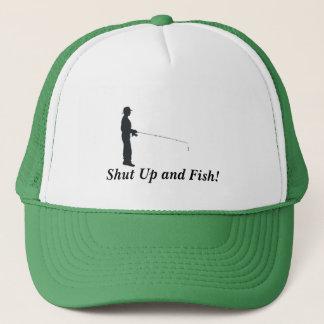 Boné Feche acima e pesque!