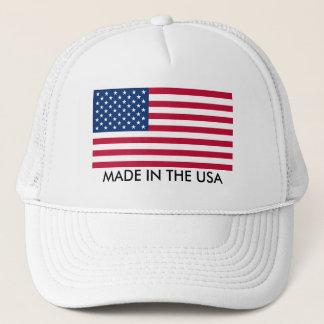 Boné Feito nos EUA com bandeira