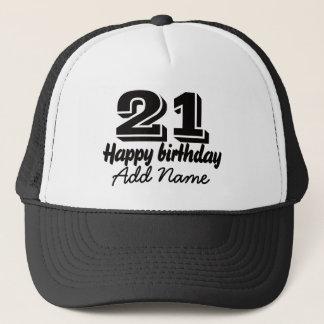 Boné Feliz aniversario com nome