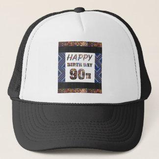 Boné feliz aniversario happybirthday 90 ninety 90