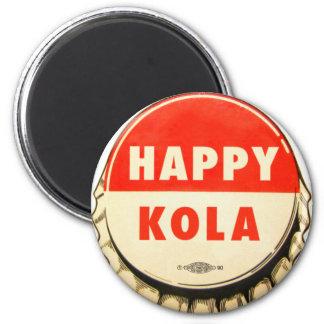 Boné feliz retro do Kola do pop de soda do vintage Ímã Redondo 5.08cm