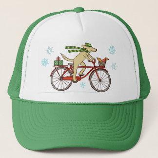 Boné Feriado de inverno do cão e do esquilo do ciclismo