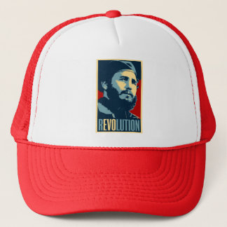 Boné Fidel Castro - presidente cubano da revolução de