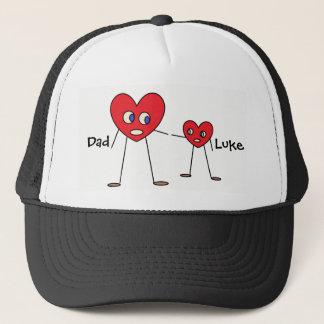 Boné Figuras bonitos da vara do coração do pai e do