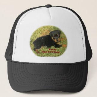Boné filhote de cachorro do rottweiler do pureinnocence