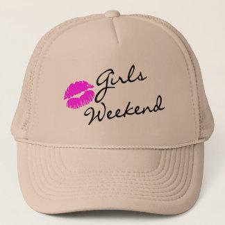 Boné Fim de semana das meninas (preto do beijo)