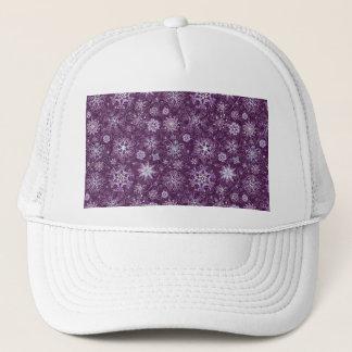 Boné Flocos de neve roxos para a dor crônica