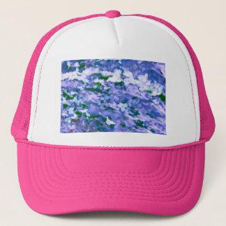 Boné Flor branca do Dogwood no azul