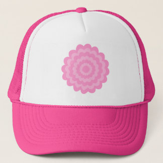 Boné Flor cor-de-rosa bonito. Fundo branco