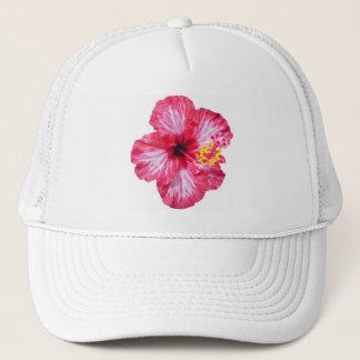 Boné flor cor-de-rosa branca vermelha do hibiscus aloha