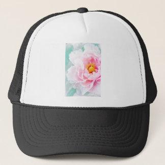 Boné Flor cor-de-rosa chave alta da peônia