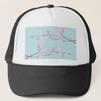 Boné Flor de cerejeira - azul-céu