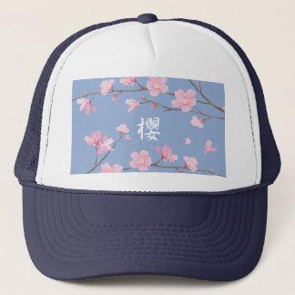Boné Flor de cerejeira - azul da serenidade