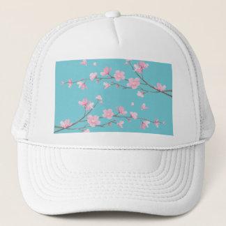 Boné Flor de cerejeira - azul do ovo do pisco de peito