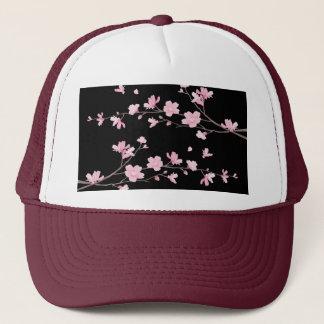Boné Flor de cerejeira - preto