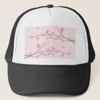 Boné Flor de cerejeira - rosa