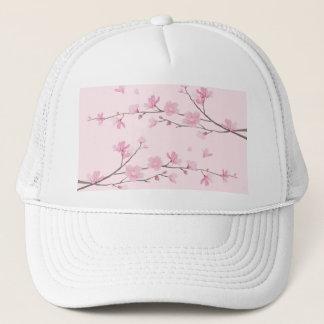 Boné Flor de cerejeira - Transparente-Fundo