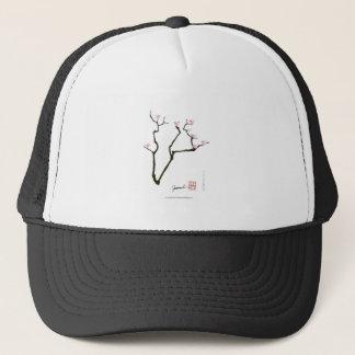 Boné flor de sakura e pássaros cor-de-rosa, fernandes