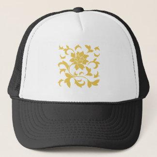 Boné Flor oriental - amarelo da mostarda